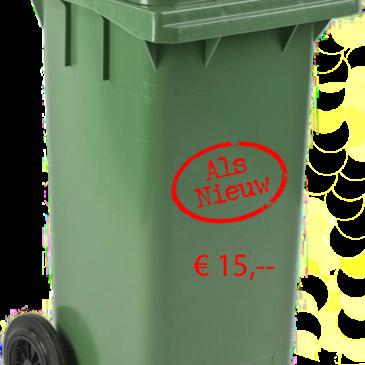 Eenmalige reiniging voor particuliere huisvuil container